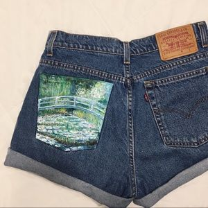 Hand painted monet shorts